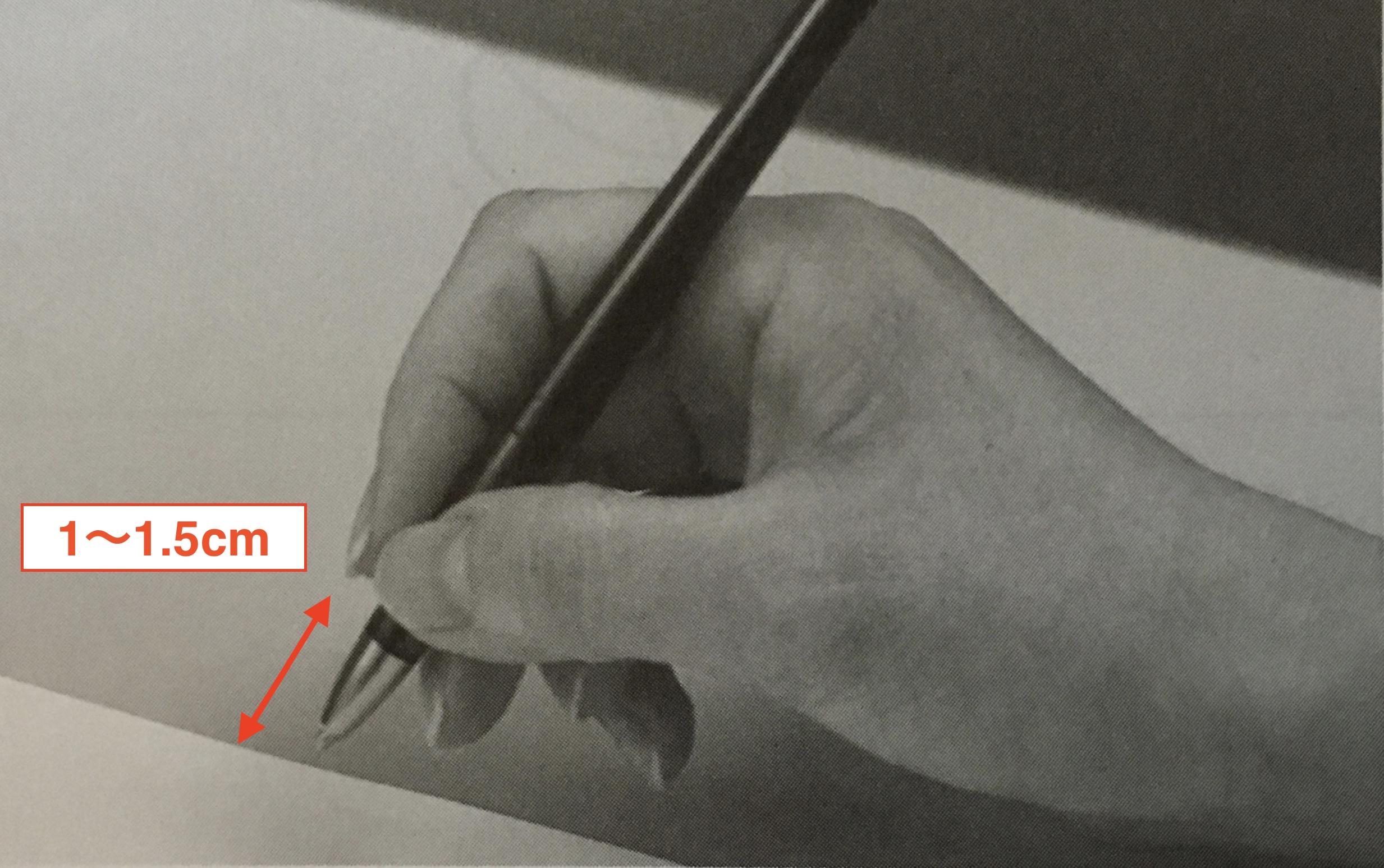ペンの持ち方(距離)